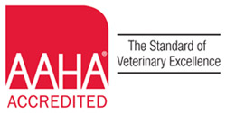 AAHA logo for the animal hospital in Houston, TX