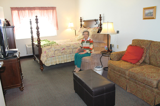 Bright bedrooms at our facility in smithfield nc