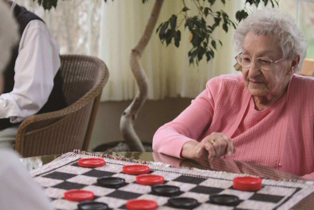 Huge checkers at senior living valley terrace