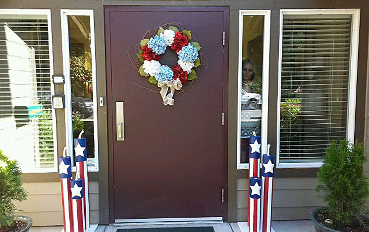 Chateau gardens front door 4thofjuly