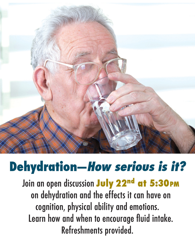 SouthTowne discussion on dehydration