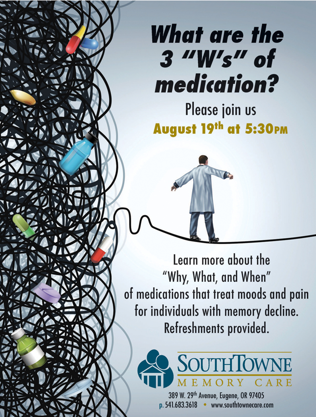 SouthTowne August 2015 discussion on medications for dementia
