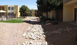 Walkways through at our apartments in albuquerque