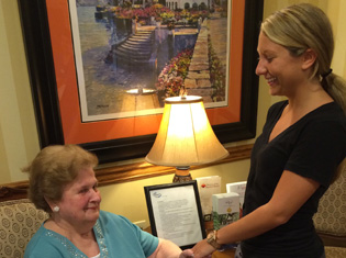 happy short term residents enjoy conversation at Old Forge Manor Personal Care Center