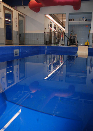 Indoor pool for rehabilitation at our pet care hospital in lubbock tx