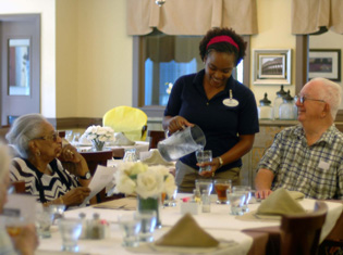Assisted living residents enjoy living at The Crossings at Steele Creek