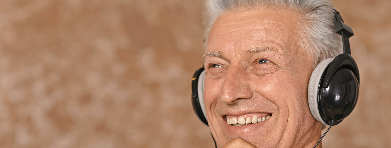 Resident listening to music at