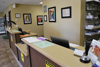 Reception desk at our clinic in temecula
