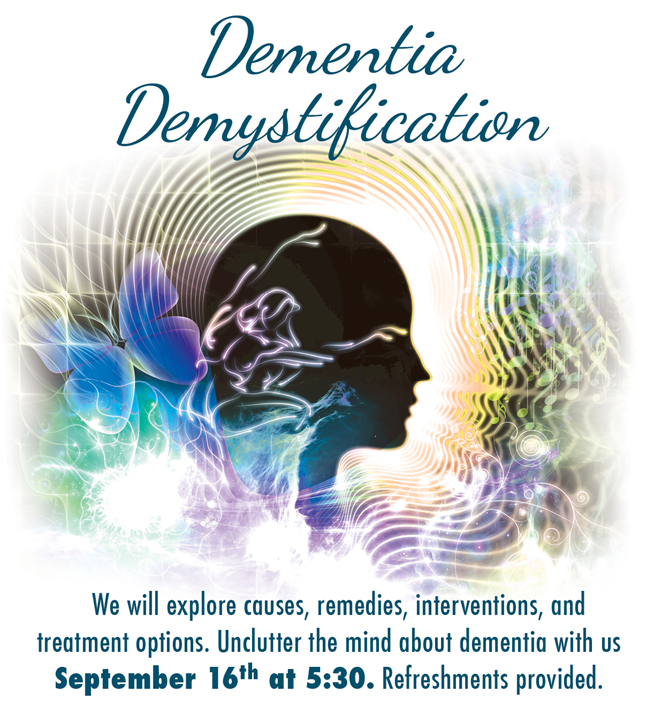 SouthTowne dementia demystified lecture September 2015
