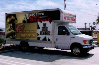 Absolute Self Storage offers a free 16' moving truck in Thousand Palms, CA