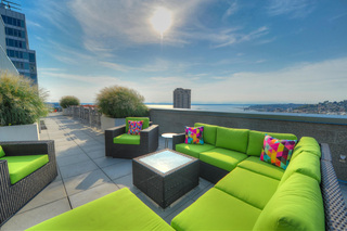 Rooftop couches
