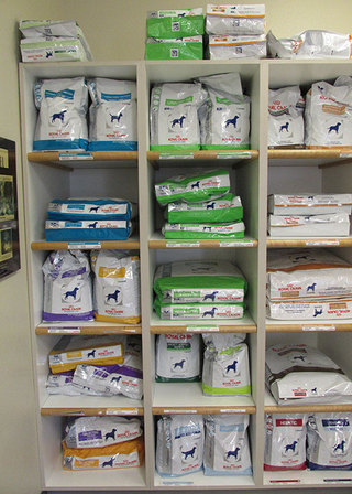 Dog food at care animal hospital