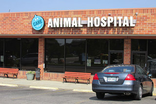 Entrance of care animal hospital