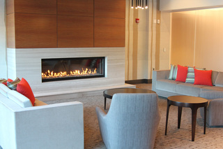 Apartments living room fireplace weehawken