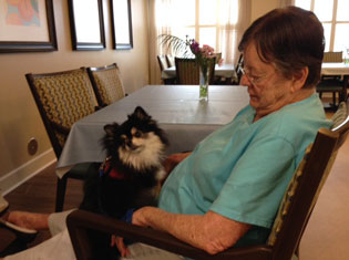 Memory care residents at The Crossings at Riverview
