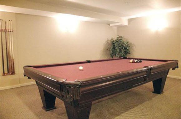 Resident pool table at our seattle apartments