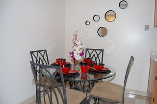 Stylish interior decoration in a dining room at our apartments