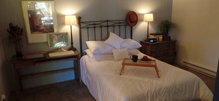 Bedroom at our apartments in sante fe nm