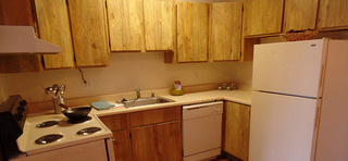 Kitchen at our apartments in sante fe nm