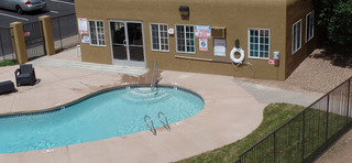 Pool at our apartments in sante fe nm