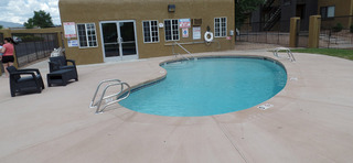 Sparkling pool at our apartments in sante fe nm