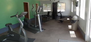 Weight room at our apartments in sante fe nm