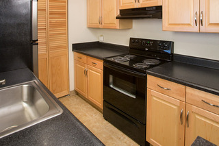 Black appliances in our apartments salisbury md