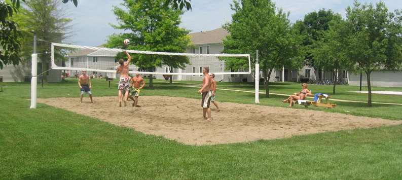 Postlet sand volleyball