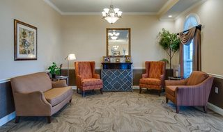Sitting area at our assisted living facility in st louis county