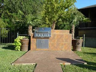 Outdoor grilling area in shreveport