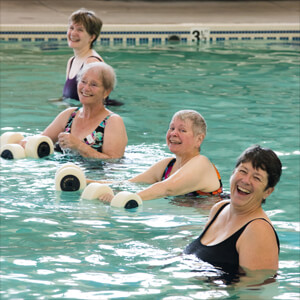 Senior Living in Meridian aquatic fitness center