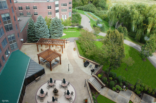 Towers patio aerial view