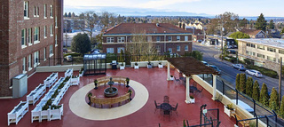 Our veranda is spacious and provides a beautiful view of queen anne