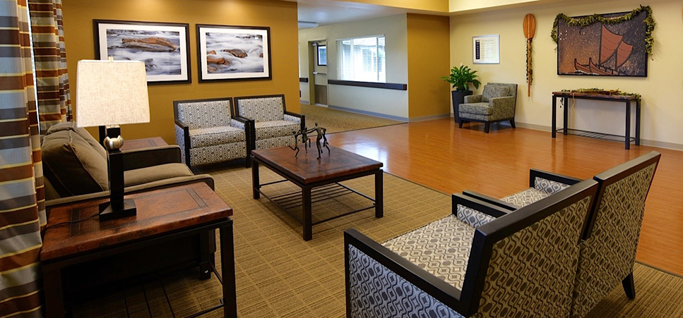 Our lobby here at regency hilo is warm and welcoming