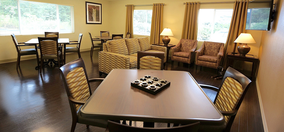 The activity room here at regency hilo has plenty of options to keep our guests active