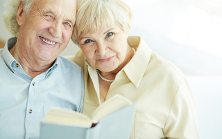 One of our resident couples here at brookside reading together