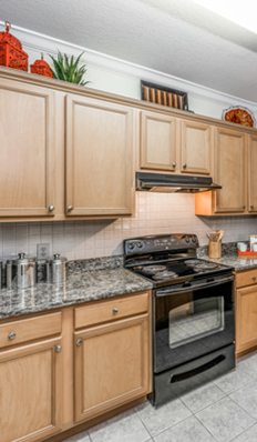 The kitchens in our apartment homes tampa are open and filled with conveniences
