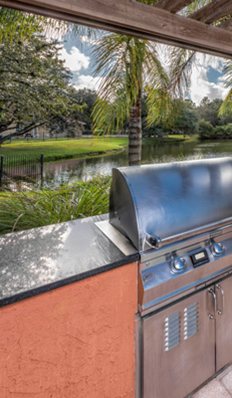 We have outdoor barbecue areas and more here at the lakes brandon west