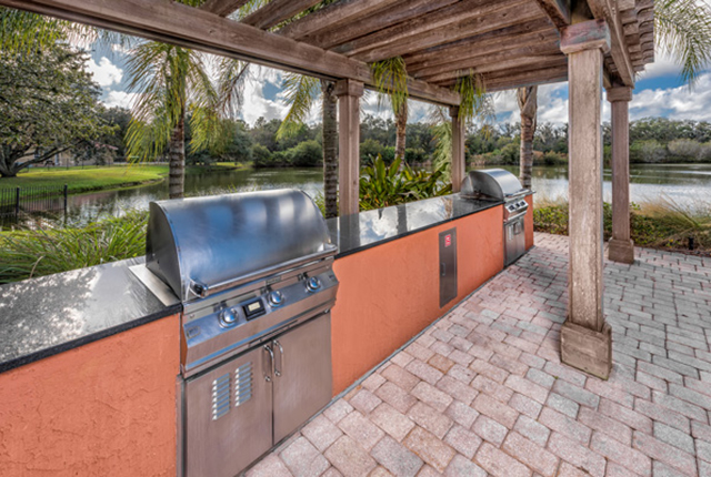 Invite your friends and family over for a bbq in our outdoor entertaining area by the lake