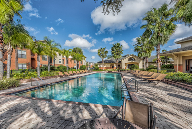 The swimming pool area at lakes brandon west is absolutely stunning