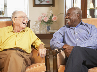Friends share a laugh at chatanooga senior living