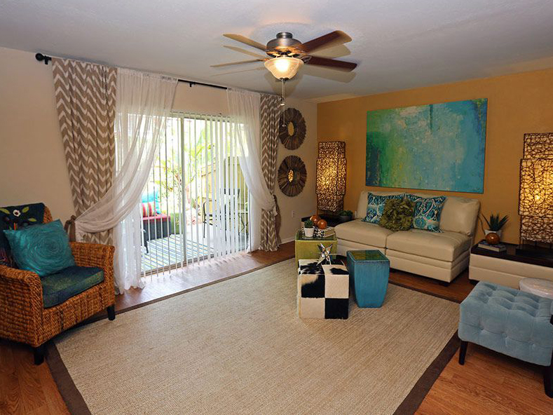 Living room furnished in Largo FL