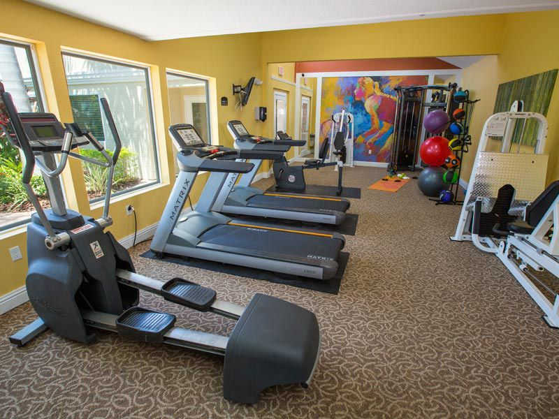 Cardio equipment at our apartments in bradenton