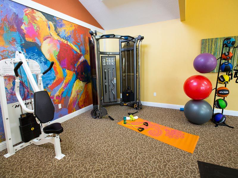 Fitness center at our apartments in bradenton