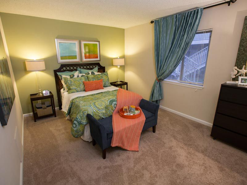 Guest bedroom at our Bradenton apartments
