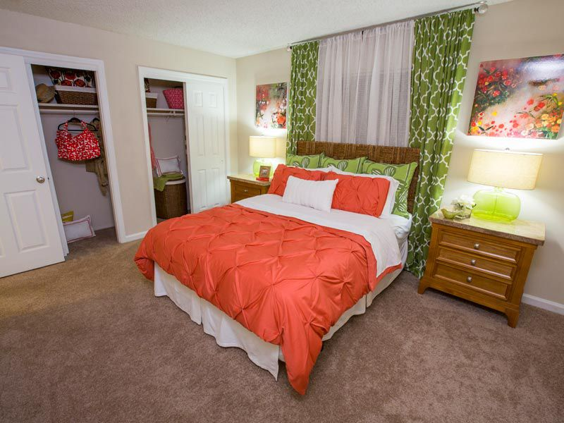 Master bedroom at our Bradenton apartments