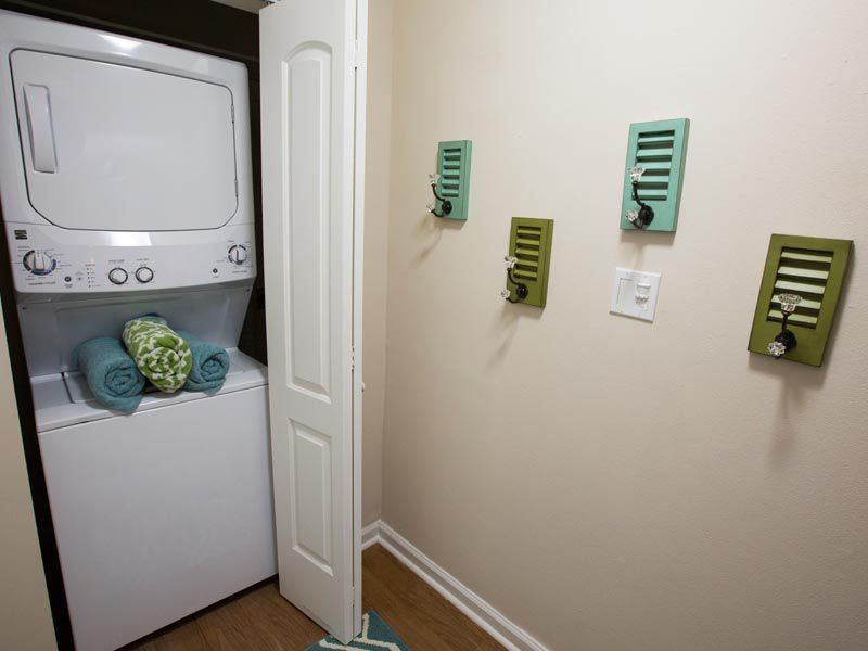 Stackable washer and dryer at our Bradenton apartments