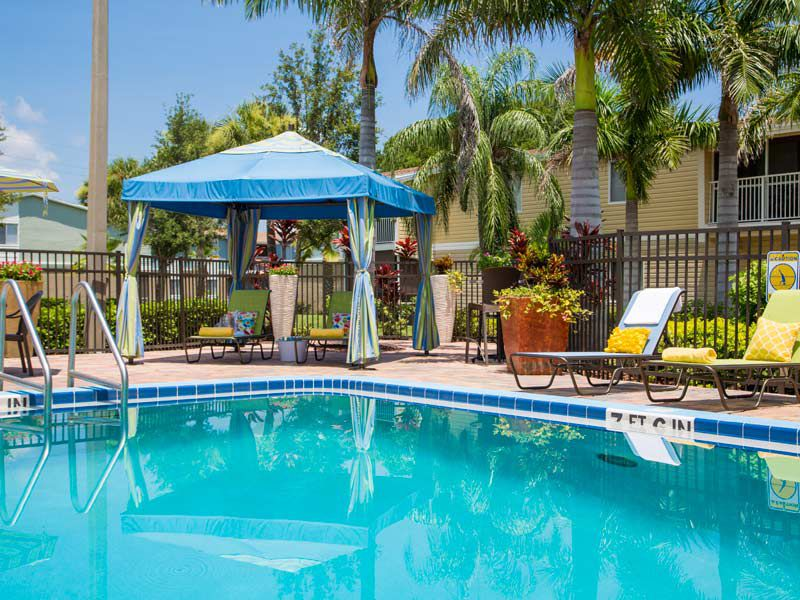 Sparkling pool at our apartments in bradenton