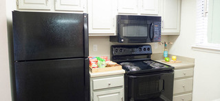 A look at the kitchen inside apartments in midland tx