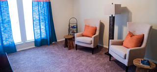 A view of the den inside apartments in midland tx